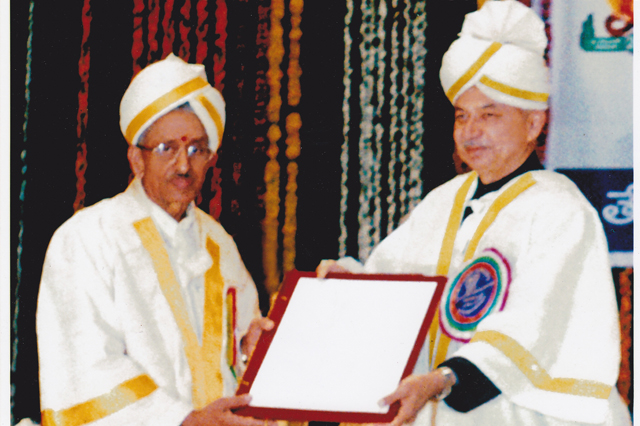 DOCTORATE FROM PS TELUGU UNIVERSITY IN 2005